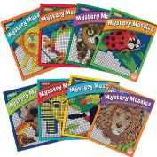 Mystery Mosaics Set of 8 with 24 FREE Markers
