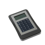 Calculator with Carbon Fibre Finish Wood Base