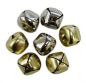 Tanday 1.3cm 48pcs Gold Jingle Bells #8901 for crafts