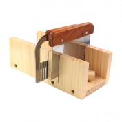 Biowow Adjustable DIY Soap Cutter Mould Wood Handmade Loaf Cutter with 2pc Planer Cutting Tool Set