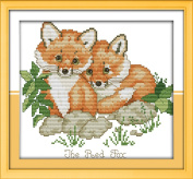 CaptainCrafts Hot New Releases Cross Stitch Kits Patterns Embroidery Kit - Red Foxes