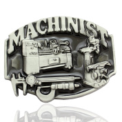 Q & Q Fashion Men Vintage Silver 3D Machinists Working Machinery Tools Trades Union Belt Buckle