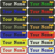 Rectangular 1 Line Custom Embroidered Name Tag Iron / Sew on Patch