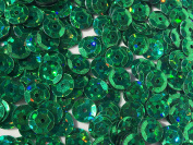 Sequins 6mm 1000/Pkg Crazy Dots Finish Emerald Green