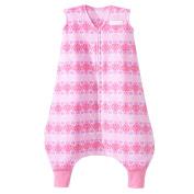 HALO SleepSack Early Walker Micro Fleece Wearable Blanket, Pink Butterfly Ombre, Large