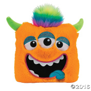 28cm Plush Monster Pillow (Orange) - Cute Girl Boy Kids Bedroom Livingroom car