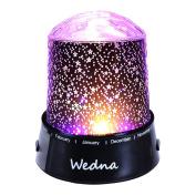 Wedna LED Star Light Projector Baby Nursery Night Light Relaxing Sleep Aid Lamp Best Christmas Gift for Kids Children