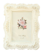 BEYLEG ® Baroque White Decorative Resin Photo Picture Frame for 10cm x 15cm Photo