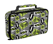 Fit and Fresh Bento Insulated Lunch Bag, Surf Sketch, Green