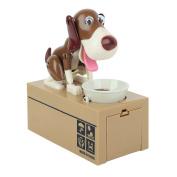 OliaDesign My Dog Piggy Bank - Robotic Coin Munching Toy Money Box