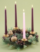 Berries and Pears Fruits Christmas Advent Wreath Candleholder Holiday 24119 New