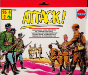 A-TOYS By ESCI - WWII German Army and Russian Army Plastic Toy Soldiers set in 1/72 scale