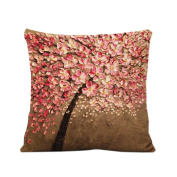 Clode®46cm x 46cm Plum Blossom Pattern Pillow Case Sofa Waist Throw Cushion Cover