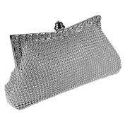 Sparkly Crystal Satin Evening Clutch Bag With A Long Chain And Inner Pocket Clutch Wedding Bridal Evening Party Handbag Purse Prom Bags