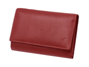 Starhide Ladies Womens Genuine Leather Wallet Purse With Multi Card, ID Window, Zip & Coin Pocket Gift Boxed #5515