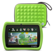 LeapFrog Epic 18cm Android-based Kids Tablet 16GB with Carrying Case, Green