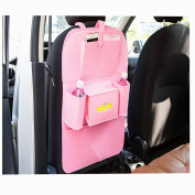 Car Seat Multi-functional Storage Bags,ANGTUO Blankets Pockets of Debris Storage Bag Car Seat back,pink