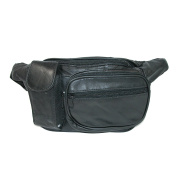 Leather Impressions Leather Hook and Loop Closure Pocket Waist Pack
