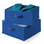 Honey-Can-Do SFT-01277 Drawers For Hanging Organiser, 2-Pack, Blue