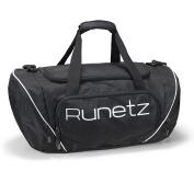 Runetz - BLACK Gym Bag Sport Shoulder Bag for Men & Women Duffel 50cm Large - Black