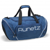 Runetz - NAVY BLUE Gym Bag Sport Shoulder Bag for Men & Women Duffel 50cm Large - Navy Blue