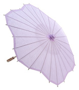 Quasimoon 80cm Lavender Paper Parasol Umbrella, Scallop Shaped by PaperLanternStore