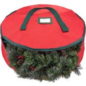 Zober Premium Wreath Storage Bag - Tear Resistant Fabric Storage Bag for Wreath Storage Featuring Transparent Card Slot for Labelling | 30 x 30 x 8 | Red