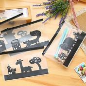 Katoot@ 10pcs/lot Cute Elephant Transparent school pencil case Kawaii animal PVC waterproof Stationery bag pouch office school supply