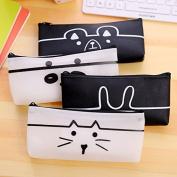 Katoot@ Cute animal pencil bags Kawaii cat panda silicone zipper pen case stationery pouch school office supplies canetas escolar