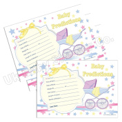 Baby Shower Prediction Cards (20 Pack) - From Unisex Stars Range