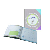 PMP Printed Birth Book When I Was Little Mouse Grey