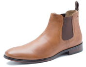 Red Tape Beeston Black Tan Mens Leather Pull On Chelsea Boots Casual Formal