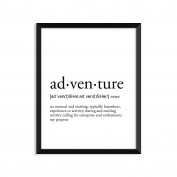 Adventure Definition, College Dorm Room Decor, Dorm Wall Art, Dictionary Art Print, Office Decor, Minimalist Poster, Funny Definition Print, Definition Poster, Inspirational Quotes