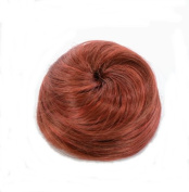 Henna Red Hair Cone Up Do Hairpiece | Drawstring Hair Bun | Clip in Henna Red Top Knot