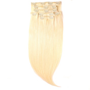 Just Beautiful Hair and Cosmetics Clip-In Remy Genuine Hair Extensions in Strands, 45 cm