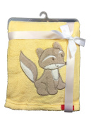 Embroidered Baby Blanket with name and date of birth/Soft/1 A Quality
