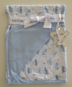 Beautiful Cotton Blanket Baby Blue With Small Cars 75 x 90 cm