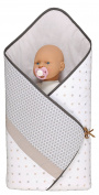 P'tit Basile - sleeping bag - swaddling cover for babies - multi-use baby nest 76x76 cm - 0-3 months - Cotton stemming from the organic farming - unisex Collection Little sweet dreams