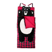 LazyOne Childrens Sleeping Bag with built in pillow Bear