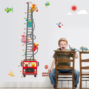 Cartoon Animals Ladder Height Measurement Wall Sticker Decal Home Decor PVC Murals Wallpaper House Art Picture Living Room Adult Senior Teen Kids Baby Bedroom Decoration