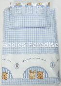 4 Piece Travel Set/Scatter Filled 17-18 Inner & Cover Bear And Rabbit Blue