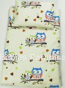 4-Piece Set - Scatter Filled 17-18 Inner & Cover Owl Beige