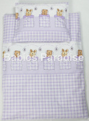 4 Piece Travel Set/Scatter Filled 17-18 Inner & Cover Bear And Rabbit Purple
