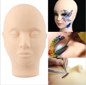 RoyalVirgin Massage Training Mannequin Flat Head Practise Make Up Model Eyelash Extensions with Clamp Holder
