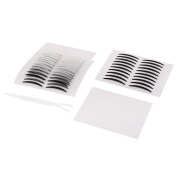sourcingmap® Plastic Beauty Maker Tool Ivory Double Eyelid Sticker Set Tape w Clip 56 Pairs
