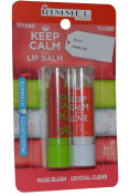Rimmel London Keep Calm and Lip Balm Lip Balm Duo Pack 3.7g Rose Blush 3.7g Crystal Clear