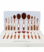 Professional Fashion Tooth Design 10pcs Foundation Brushes Set with Box
