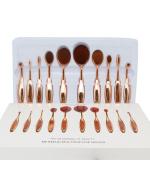 Professional Fashion Tooth Design 10pcs Foundation Brushes Set with Box