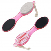 HimanJie 4 in 1 Pumice Stone Grinding Foot Tool ABS Remover Brush