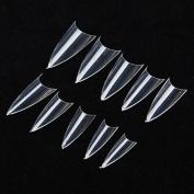 Ungfu Mall 500pcs False Sharp Ending Stiletto Acrylic Nail Art Tips
